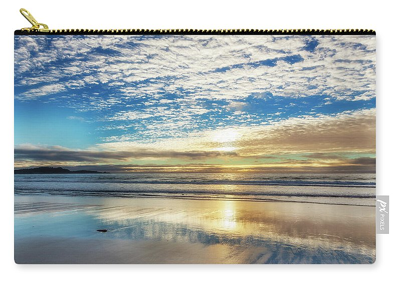 Tranquility Carry-all Pouch featuring the photograph Sunset On Carmel Beach, California by Alvis Upitis