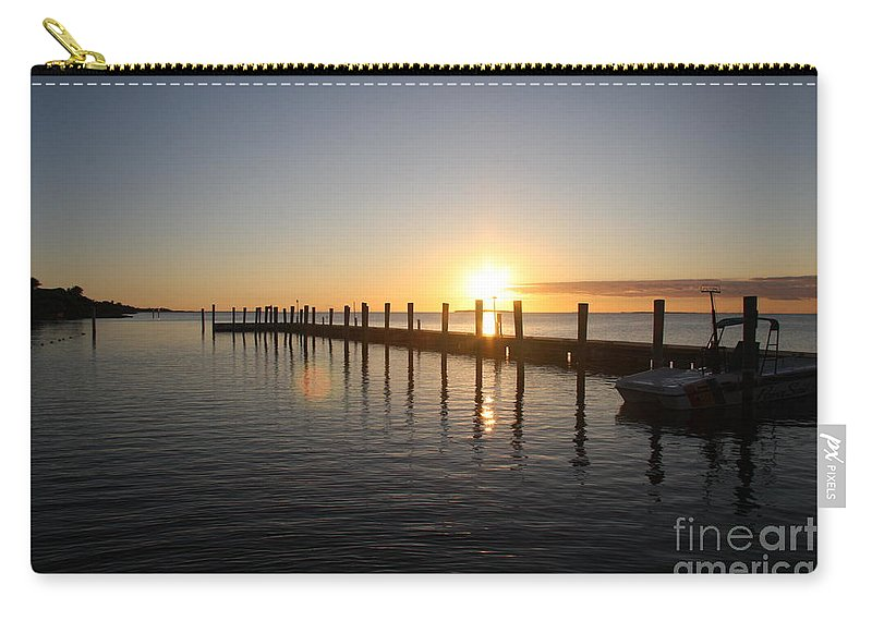 Sunset Carry-all Pouch featuring the photograph Sunset On Key Largo by Christiane Schulze Art And Photography