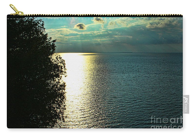 Sunset Carry-all Pouch featuring the photograph Sunset On The Bay Of Green Bay Wi by Tommy Anderson