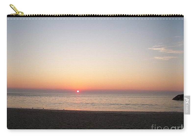 Atlantic Carry-all Pouch featuring the photograph Sunset On The Delaware Sunset Beach by Eric Schiabor