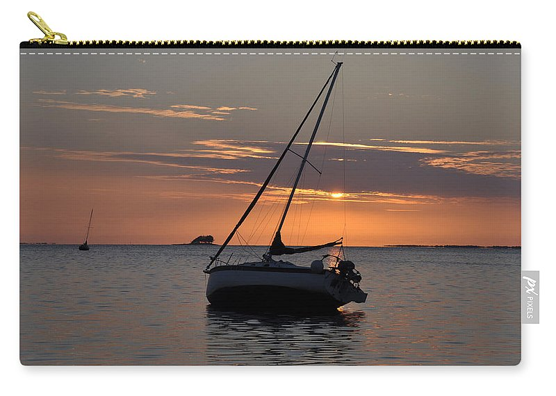 Sunset Carry-all Pouch featuring the photograph Sunset On The Gulf by Bill Cannon