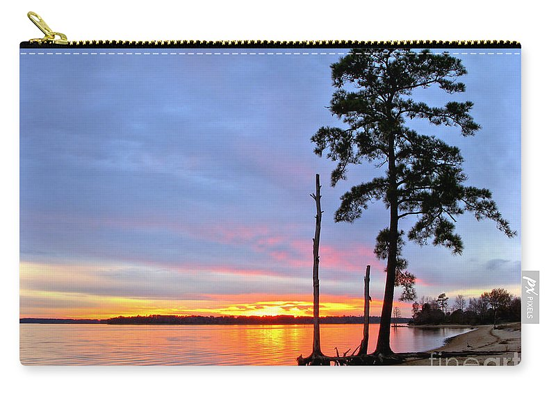 James River Carry-all Pouch featuring the photograph Sunset On The James River by Olivier Le Queinec