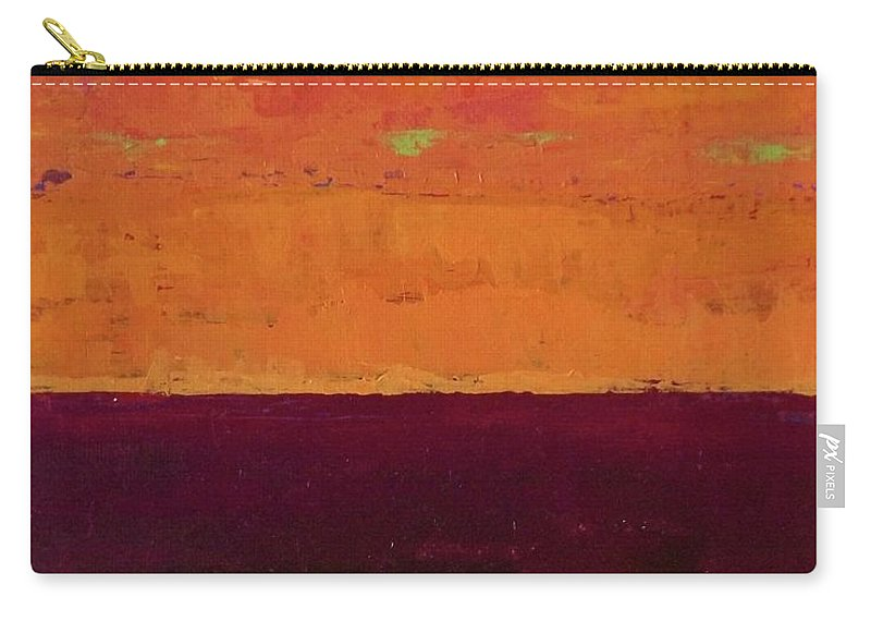 Landscapes Carry-all Pouch featuring the painting Sunset On The Pier by Gail Kent