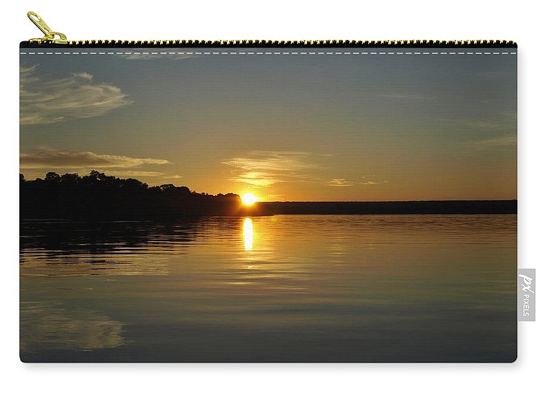 Africa Carry-all Pouch featuring the photograph Sunset On The Zambezi 2 by William Morgan