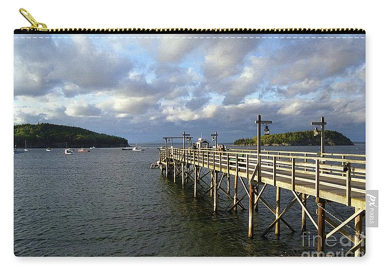 Bar Harbor Sunset Carry-all Pouch featuring the photograph Sunset Over Bar Harbor by Allen Beatty