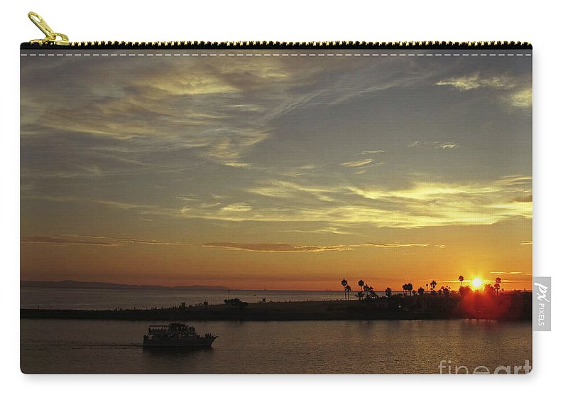 Ocean Carry-all Pouch featuring the photograph Sunset Over Jetty Point by Kelly Holm
