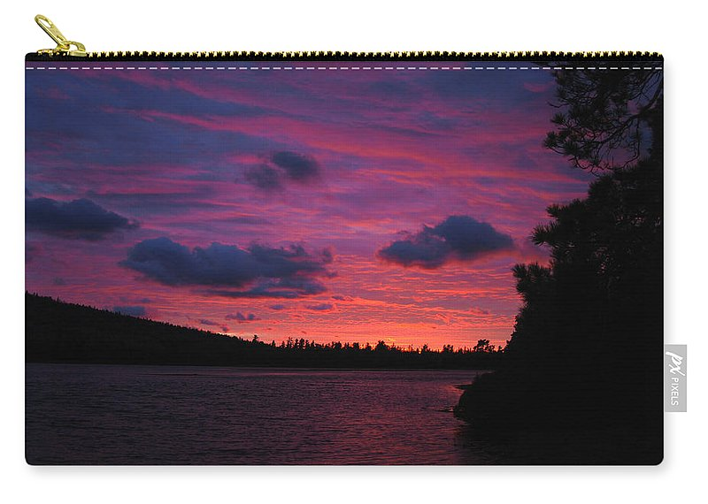 Optical Playground By Mp Ray Carry-all Pouch featuring the photograph Sunset Over Lake Bailey by Optical Playground By MP Ray