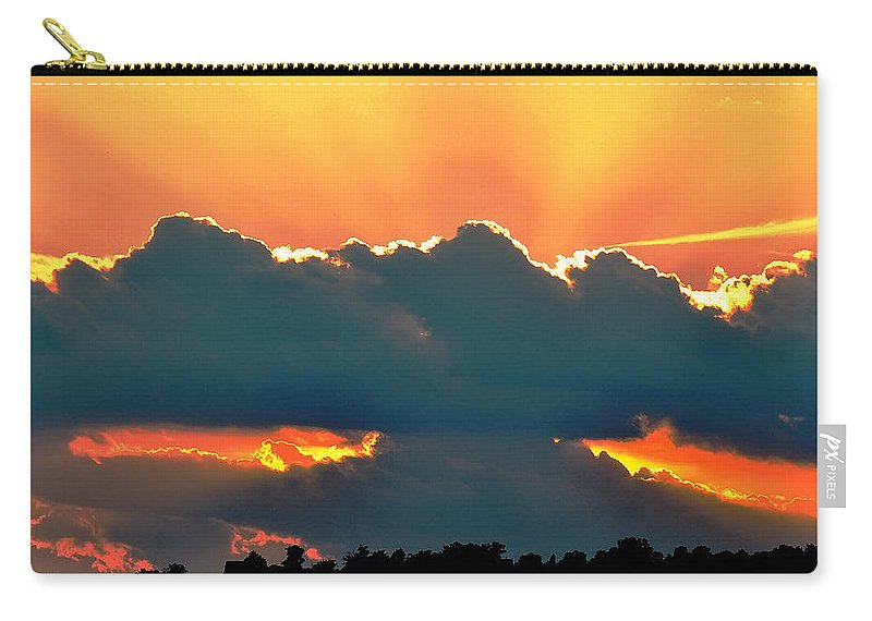 Landscape Carry-all Pouch featuring the digital art Sunset Over Southern Ohio by Chris Flees
