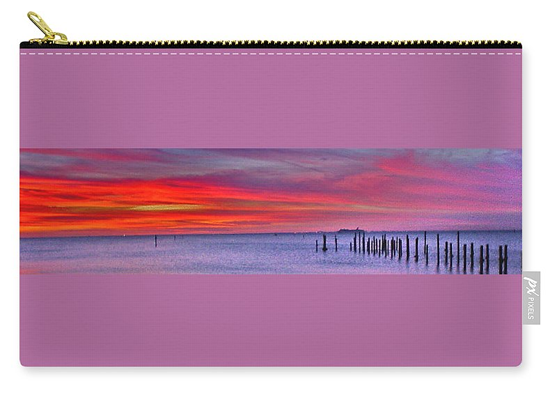 Sunset Carry-all Pouch featuring the photograph Sunset Over Tampa Bay by Norman Johnson
