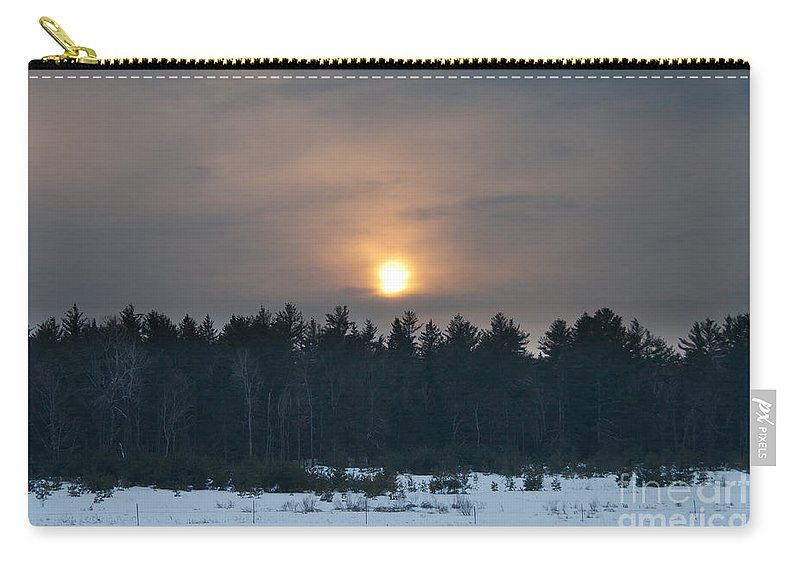 Sunsets Carry-all Pouch featuring the photograph Sunset Over The Forest by Cheryl Baxter