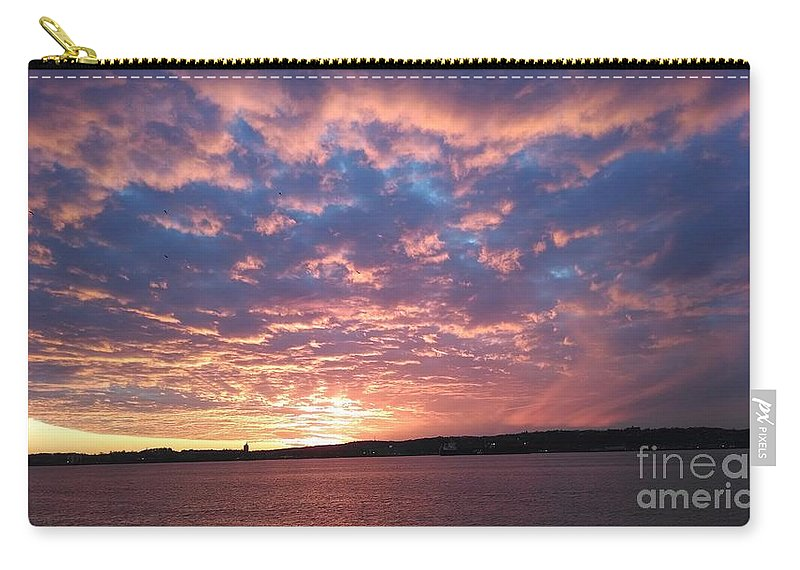 Sunset Over The Narrows Waterway Carry-all Pouch featuring the photograph Sunset Over The Narrows Waterway by John Telfer