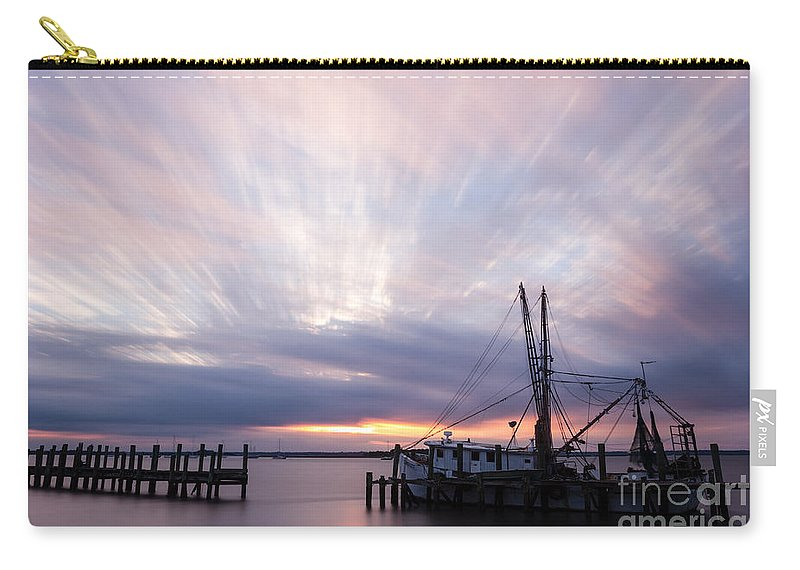 Sunset Carry-all Pouch featuring the photograph Sunset Over The Senseless Fernandina Beach Florida by Dawna Moore Photography