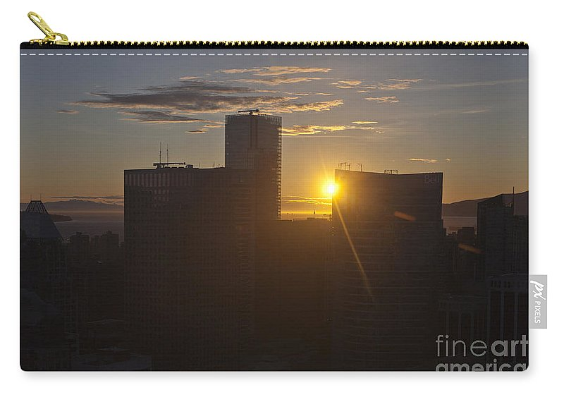 Travel Carry-all Pouch featuring the photograph Sunset Over The Skyline Of Vancouver by Jason O Watson