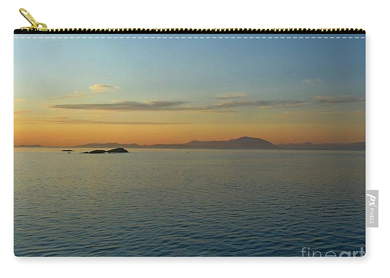 Sunset Carry-all Pouch featuring the photograph Sunset Over Vancouver Island by Lena Photo Art