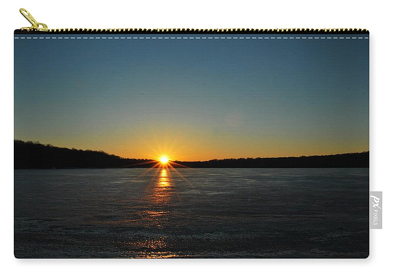 Water Carry-all Pouch featuring the photograph Sunset Reflection by Kurt Von Dietsch