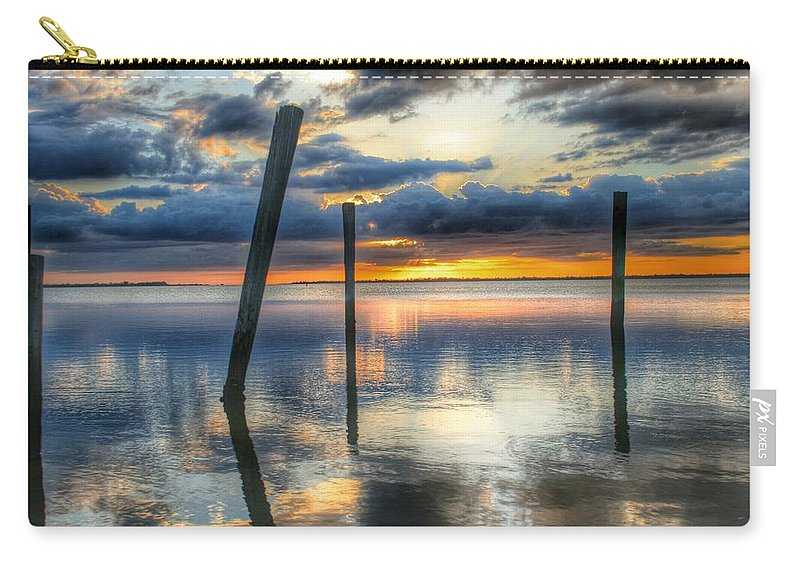 Sunset Carry-all Pouch featuring the photograph Sunset Reflections by Jeannine Rose