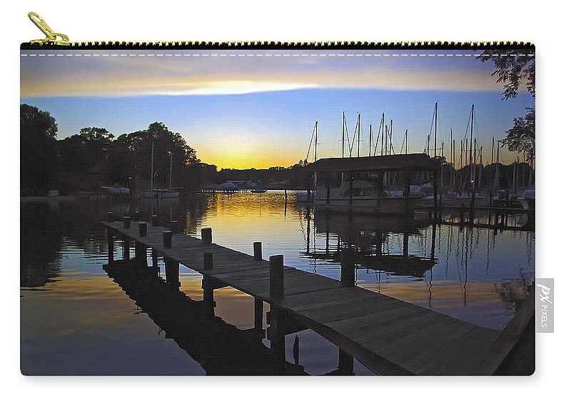 2d Carry-all Pouch featuring the photograph Sunset Silhouette by Brian Wallace