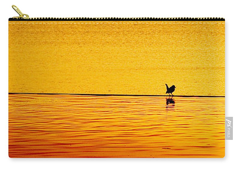 Aboretum Carry-all Pouch featuring the photograph Sunset Silhouette by Darryl Dalton