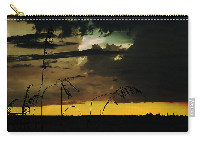 Sunset Carry-all Pouch featuring the photograph Sunset Silhouette by Norman Johnson