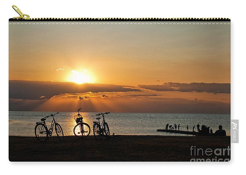 Bikes Carry-all Pouch featuring the photograph Sunset Silhouettes by Antony McAulay