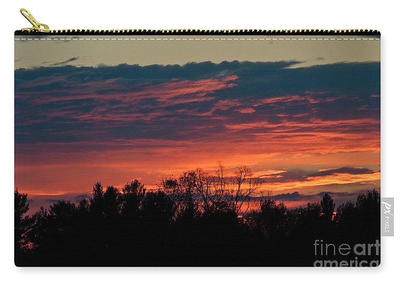 Sunset Sky Carry-all Pouch featuring the photograph Sunset Sky by Cheryl Baxter