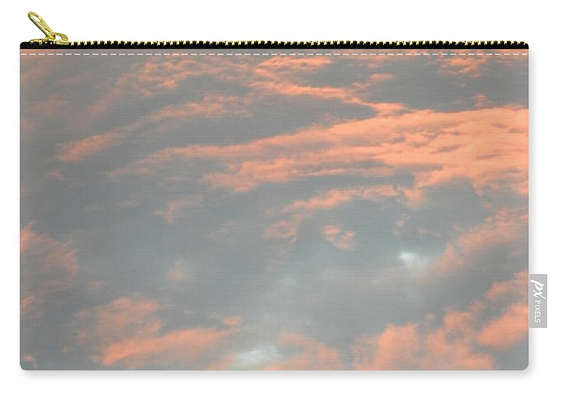 Sunset Storm Clouds Carry-all Pouch featuring the photograph Sunset Storm by Jeffery L Bowers