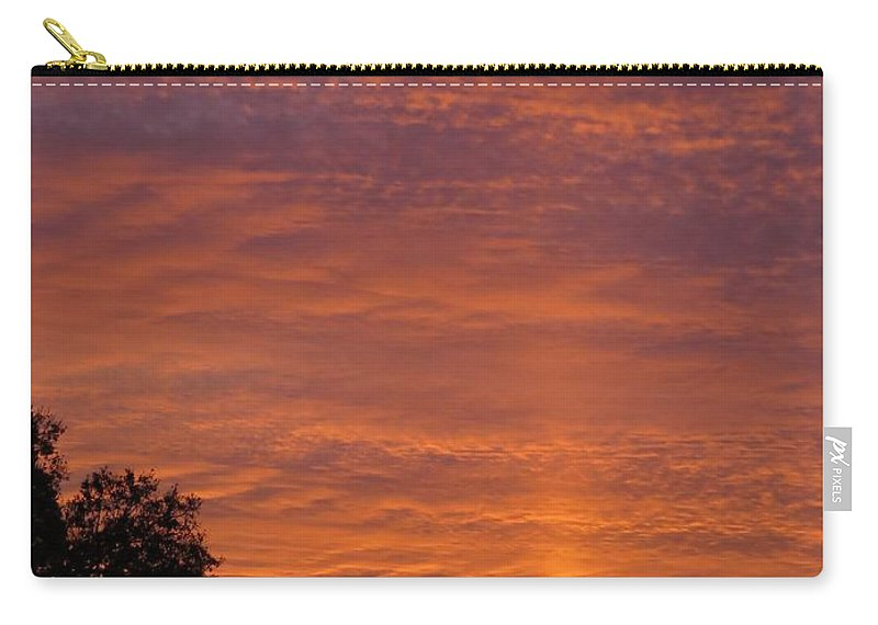 Sunset Carry-all Pouch featuring the photograph Sunset Sunburst by Zina Stromberg