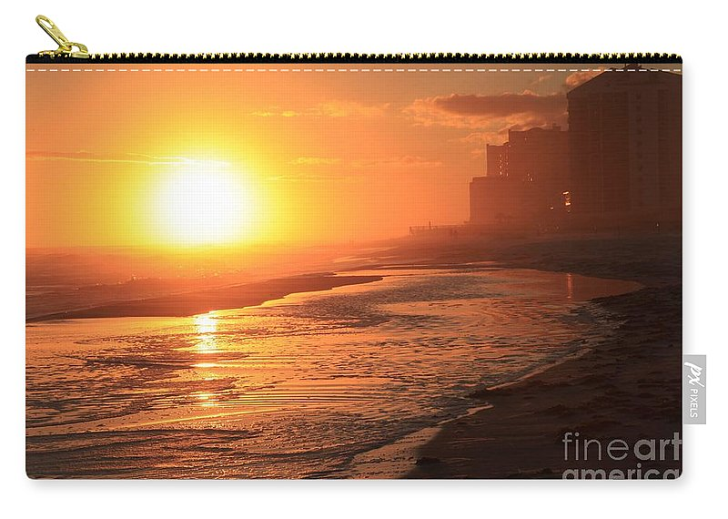 Gulf Islands National Seashore Carry-all Pouch featuring the photograph Sunset Towers by Adam Jewell