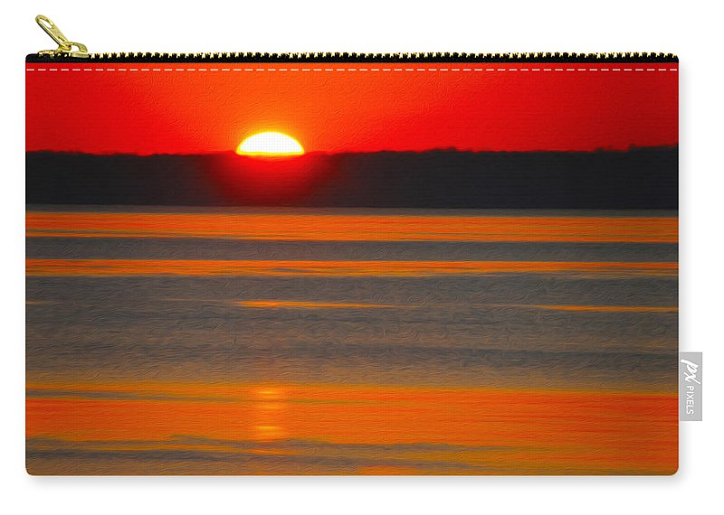 Sunset Carry-all Pouch featuring the photograph Sunset by Tracy Winter