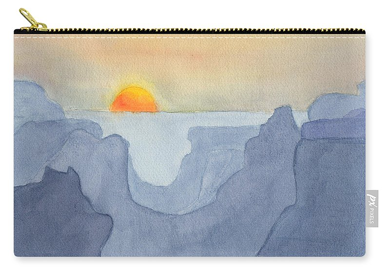 Sunset Carry-all Pouch featuring the painting Sunset Valley by Phyllis Brady
