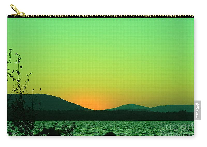 Sunset Art Carry-all Pouch featuring the photograph Sunset View by Neal Eslinger