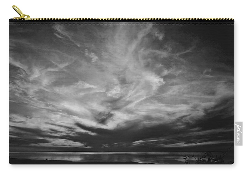 Beach Carry-all Pouch featuring the photograph Sunset With No Color by David and Carol Kelly