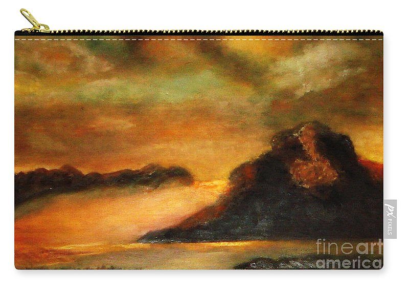 Sunset Carry-all Pouch featuring the painting Sunset by Yael VanGruber
