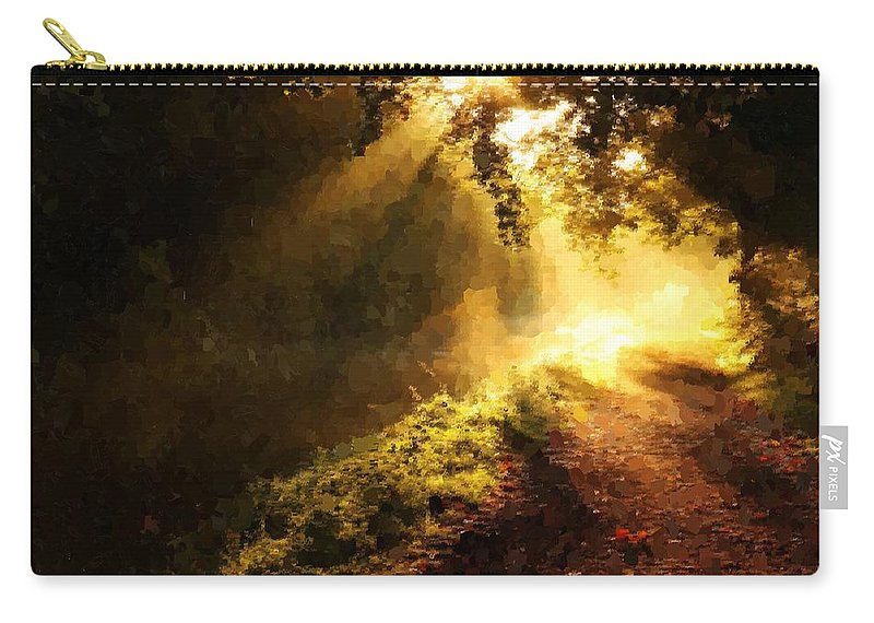 Forest Carry-all Pouch featuring the painting Sunshine by Samuel Majcen