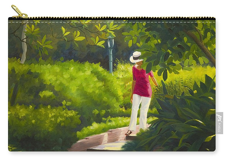 Garden Carry-all Pouch featuring the painting Sunspots and Shadow by Gary Hernandez