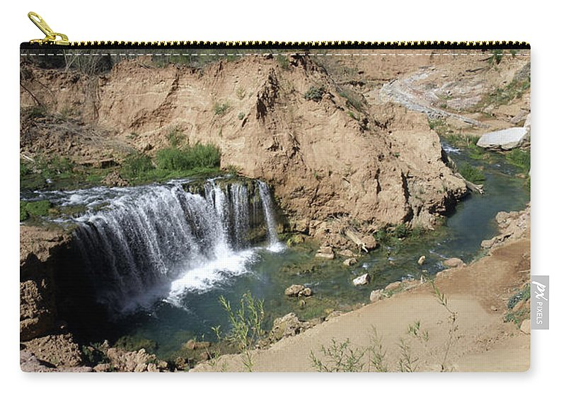 Waterfall Carry-all Pouch featuring the photograph Supai Falls by Lovejoy Creations