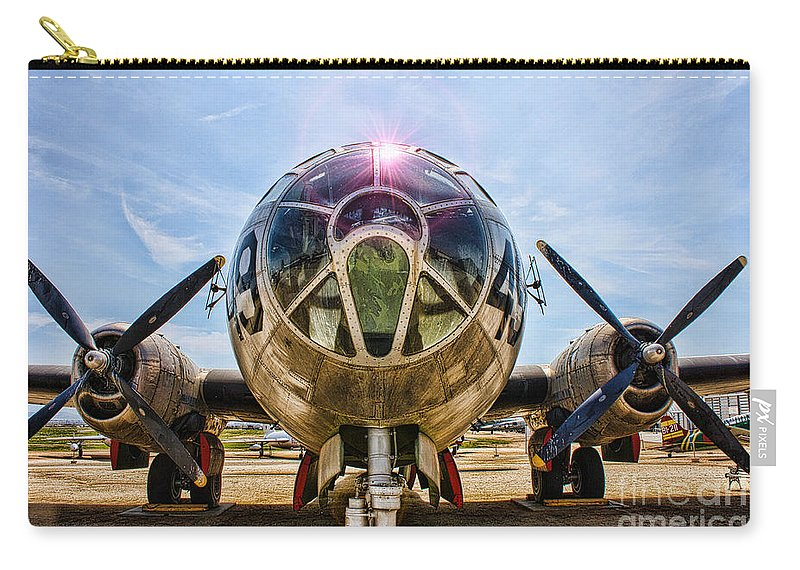 Boeing B-29 Super Fortress Carry-all Pouch featuring the photograph Super Fortress by Tommy Anderson