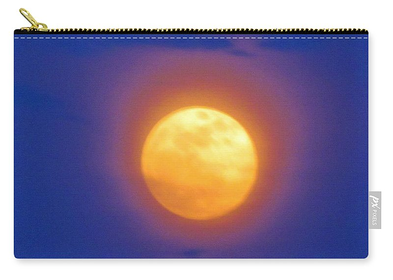 Unique Carry-all Pouch featuring the photograph Super Moon by Cynthia Guinn