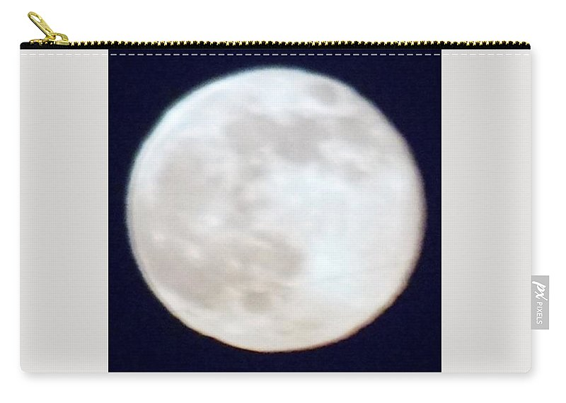 Moon Carry-all Pouch featuring the photograph Super Moon by Phyllis Spoor