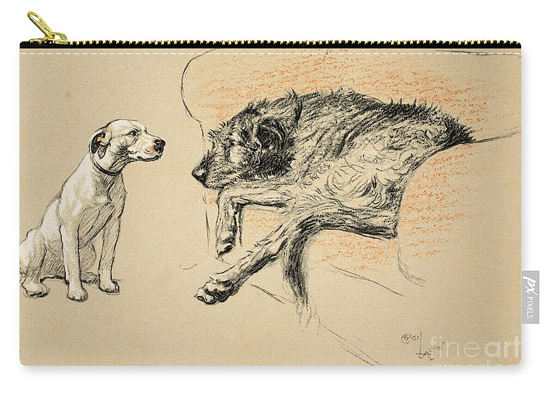 Aldin Carry-all Pouch featuring the painting Supplication by Cecil Charles Windsor Aldin