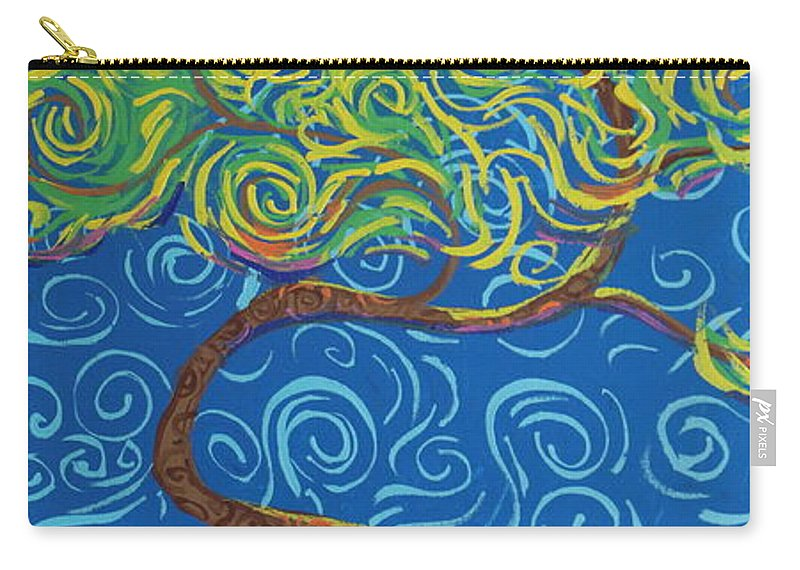 Landscape Carry-all Pouch featuring the painting Supporting The Glow by Stefan Duncan