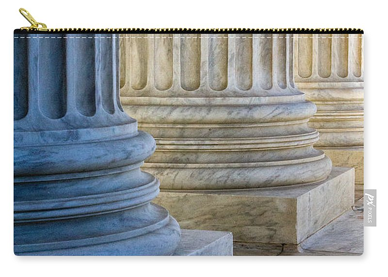 Architech Of The Capitol Carry-all Pouch featuring the photograph Supreme Court Colunms by Jerry Fornarotto