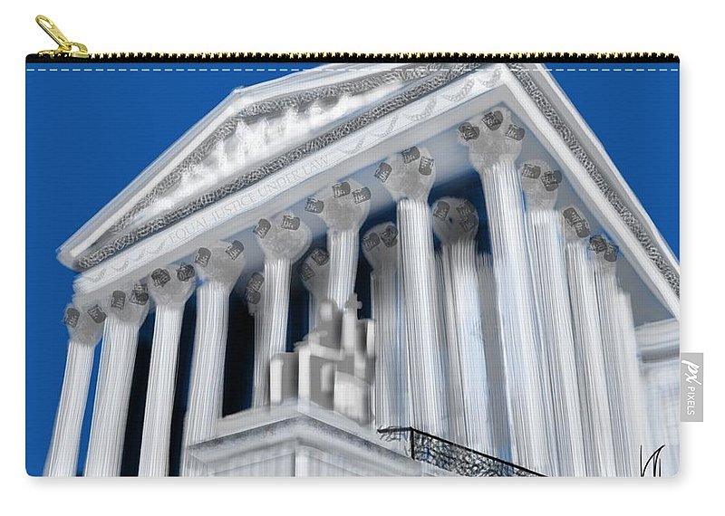 Supreme Court Carry-all Pouch featuring the painting Supreme Court by Lois Ivancin Tavaf