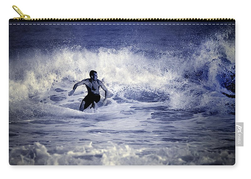 Surf Carry-all Pouch featuring the photograph Surf At Summer by Guido Montanes Castillo