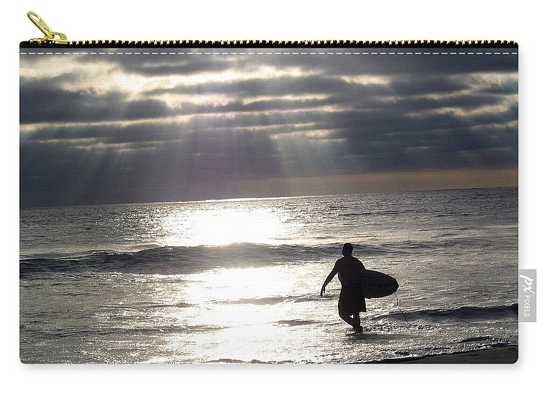 Surfer Carry-all Pouch featuring the photograph The Surfer by Mara Lee