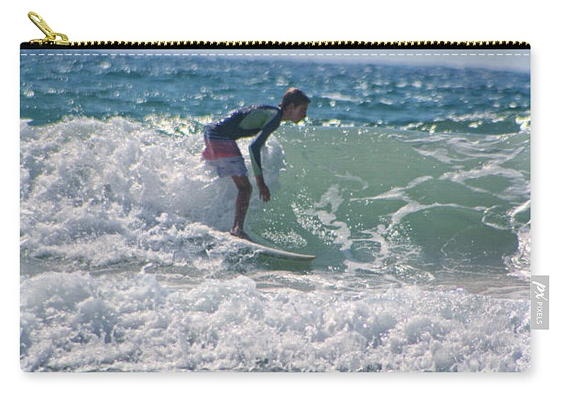 California Carry-all Pouch featuring the photograph Surfing In California by Doc Braham