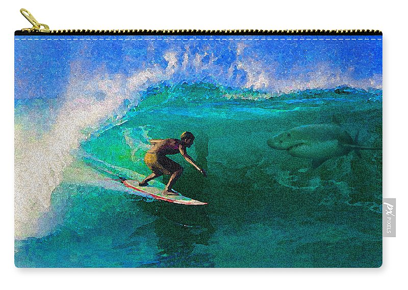 Hawaii Iphone Cases Carry-all Pouch featuring the photograph Surfs Up by James Temple