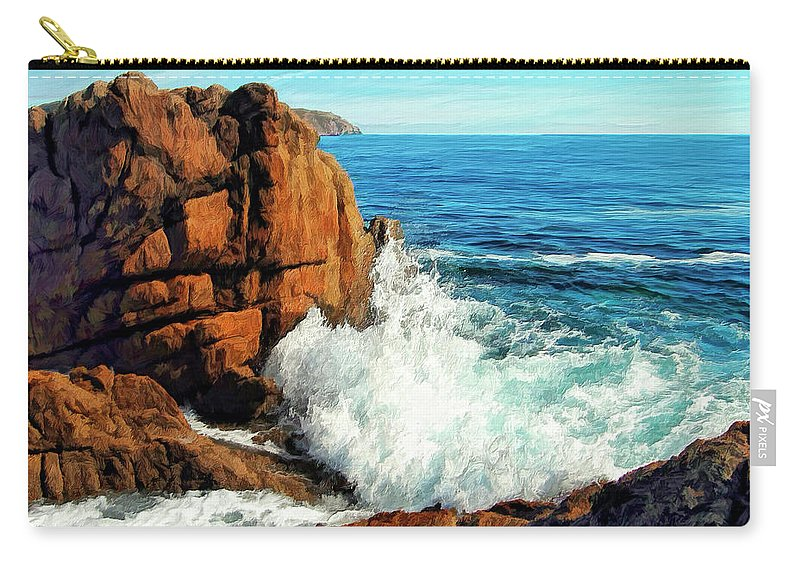 Surge Carry-all Pouch featuring the painting Surge by Dominic Piperata