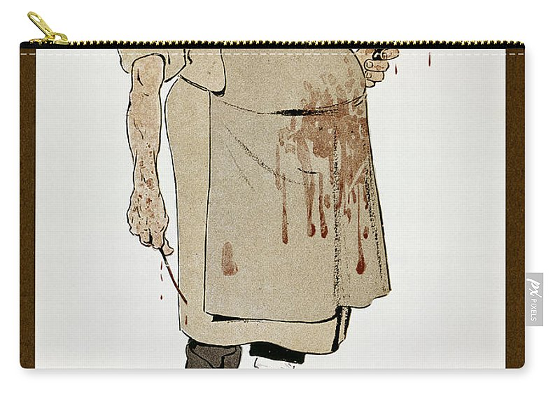 1906 Carry-all Pouch featuring the photograph Surgeon: Caricature, 1906 by Granger