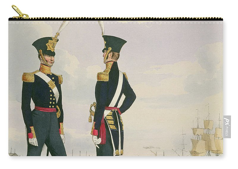 Naval Carry-all Pouch featuring the drawing Surgeons, Plate 6 From Costume by L. and Eschauzier, St. Mansion